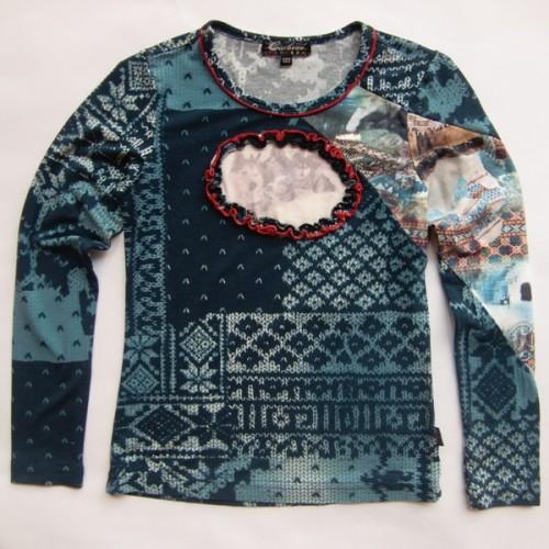 Carbone Langarmshirt / Longsleeve Husky blue norway Gr. 116
