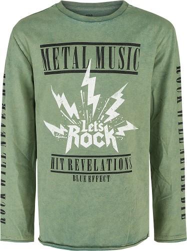 Blue Effect Jungen Langarm-Shirt/Longsleeve METAL MUSIC smoke green
