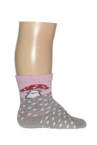 Bonnie Doon Baby Socken TOADSTOOL light grey heather