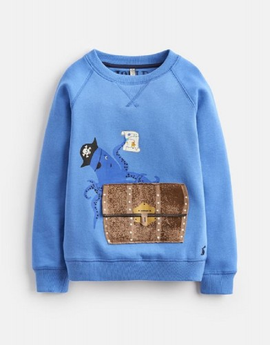 Joules Jungen Sweater VENTURA Octopus blau
