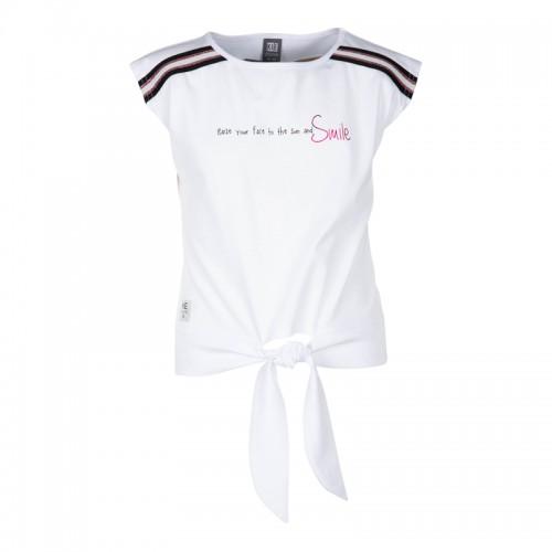 KIE stone T-Shirt/Top white Glitzer pink