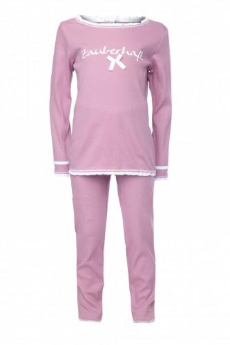 Louis & Louisa Mädchen Schlafanzug/Pyjama ZAUBERHAFT rosa
