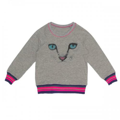Mim-Pi Langarm-Shirt/Longsleeve Pussycat grau