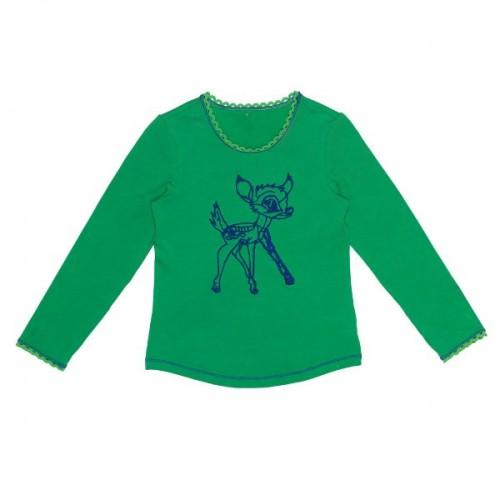 Mim-Pi Langarm-Shirt/Longsleeve Bambi grün Gr. 104
