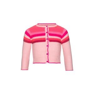 Mim-Pi Cardigan/Strick-Jacke Streifen rosa