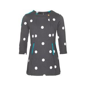 Mim-Pi Sweat-Kleid Dots grau