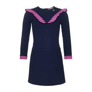 Mim-Pi Langarm-Kleid blau
