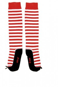 Mim-Pi Kniestrümpfe Streifen rot-weiß