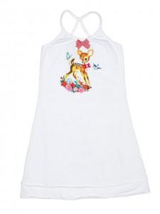 Mim-Pi Träger-Kleid Bambi weiß