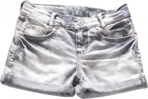 Blue Effect Mädchen Jeans-Short grey denim light NORMAL