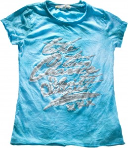 Blue Effect T-Shirt smaragd Batik