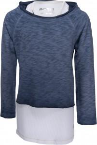 Blue Effect Doppel-Shirt/Longsleeve stahlblau/weiß