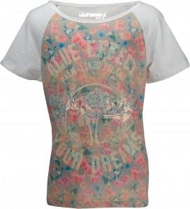 Blue Effect Raglan T-Shirt ecru