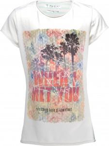 Blue Effect Mädchen T-Shirt FLOWER-Palmen ecru