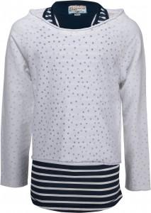 Blue Effect Doppel-Shirt/Longsleeve Streifen/weiß
