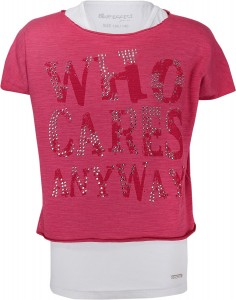"Blue Effect Mädchen Doppel-Shirt ""WHO CARES ANYWAY"" himbirot"
