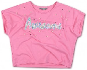 Blue Effect Mädchen Boxy T-Shirt AWESOME pink