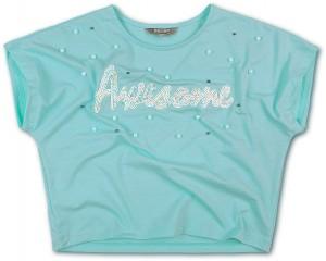 Blue Effect Mädchen Boxy T-Shirt AWESOME mint
