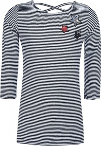 Blue Effect Mädchen 3/4-Arm-Shirt Pailletten Sterne Streifen schwarz/weiß