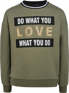 Blue Effect Mädchen Sweat-Shirt LOVE khaki