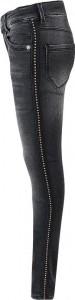 Blue Effect Mädchen Ultrastretch Jeans black seitl. Metallplättchen SLIM