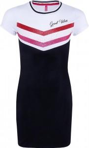 Blue Effect Mädchen Kurzarm Jersey-Kleid GOOD VIBES Glitzer schwarz