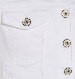 Blue Effect Mädchen Jeans-Jacke weiß