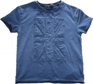 Blue Effect T-Shirt FLAGG APLIK stahlblau oil