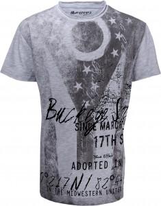 Blue Effect Jungen Fußball T-Shirt Fahne/Sterne hellgrau