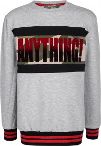 Blue Effect Jungen Sweat-Shirt ANYTHING Camouflage Colorblock hellgrau melange