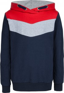 Blue Effect Kapuzen-Sweat-Shirt Colorblock nachtblau