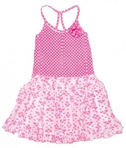 Mim-Pi Ballerina-Kleid neon pink-weiß