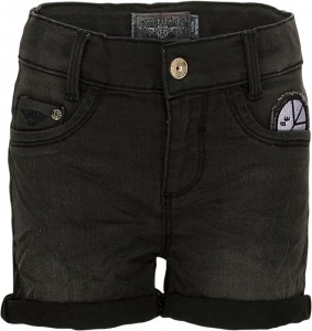 Blue Effect Mädchen Jeans-Short Patches black denim