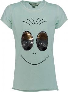 Blue Effect Mädchen T-Shirt Wendepailletten AUGEN mint