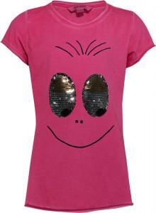 Blue Effect Mädchen T-Shirt Wendepailletten AUGEN pinky