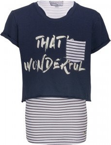 Blue Effect Mädchen Doppel-T-Shirt That's wonderful tinteblau