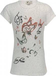 Blue Effect Mädchen T-Shirt Schmetterling elfenbein