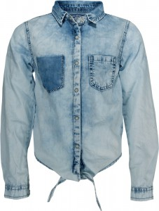Blue Effect Mädchen Langarm-Bluse denim light washed