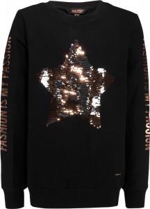 Blue Effect Mädchen Sweat-Shirt Wendepailletten STERN schwarz
