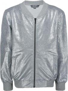 Blue Effect Mädchen Sweat-Jacke silber beschichtet