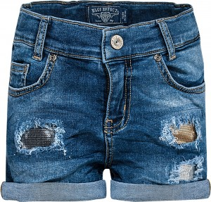 Blue Effect Mädchen Jeans-Short blue destroyed Pailletten denim NORMAL