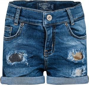 Blue Effect Mädchen Jeans-Short blue destroyed Pailletten denim NORMAL