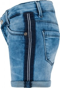 Blue Effect Mädchen Jeans Short Seitenstreifen light blue NORMAL