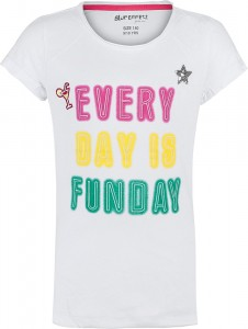 Blue Effect Mädchen T-Shirt EVERY DAY IS FUNDAY schneeweiß