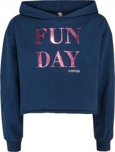 Blue Effect Mädchen Boxy Kapuzen-Sweat-Shirt FUN DAY dunkelmarine 152