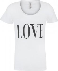 Blue Effect Mädchen T-Shirt LOVE weiß