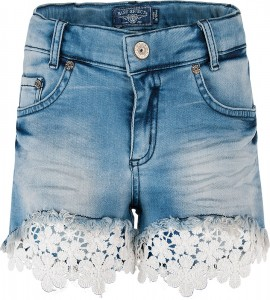 Blue Effect Mädchen Jeans-Short mit Spitze medium blue NORMAL