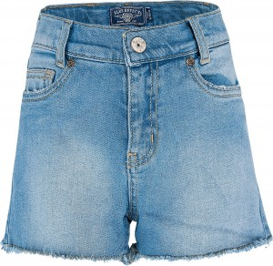 Blue Effect Mädchen High-Waist Jeans-Short light blue NORMAL