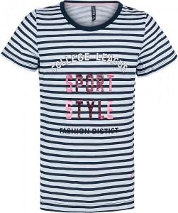 Blue Effect Mädchen T-Shirt SPORT STYLE marine weiß