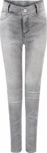 Blue Effect Mädchen High-Waist Jeans ultrastrech medium grey SLIM